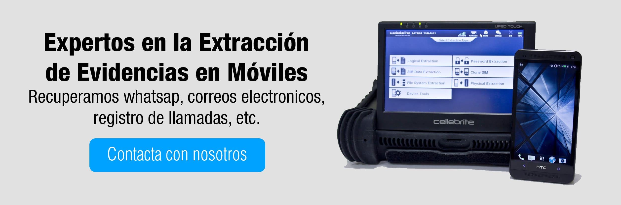 extraccion de evidencias digitales moviles perito informatico